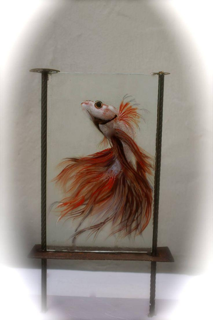 474 Best Glass Fusion Fish Images On Pinterest | Fused Glass in Fused Glass Fish Wall Art