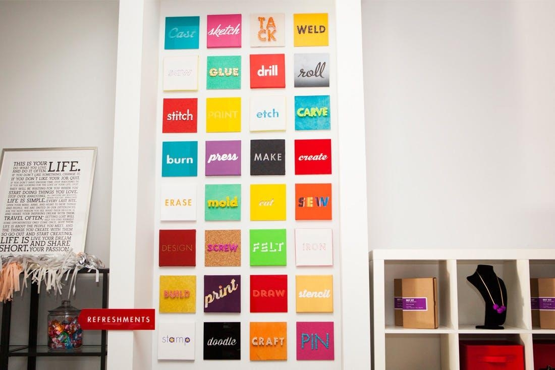 5 Clever Ways To Turn Words Into Wall Art | Brit + Co Throughout Turn Pictures Into Wall Art (Image 1 of 20)