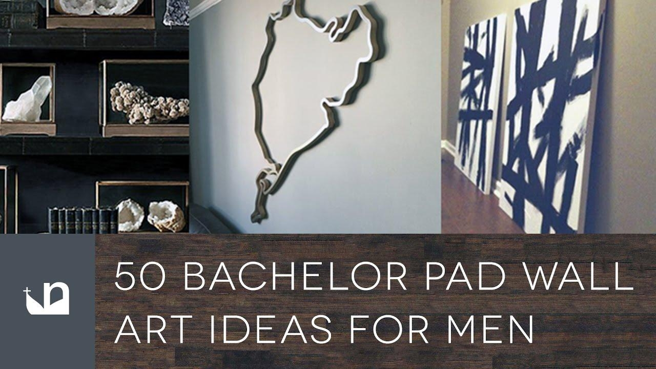 50 Bachelor Pad Wall Art Ideas For Men – Youtube Inside Wall Art For Bachelor Pad Living Room (Image 2 of 20)