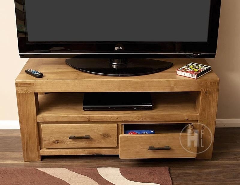 50% Off Chunky Oak Tv Unit | Small | Oslo pertaining to Most Current Chunky Wood Tv Unit