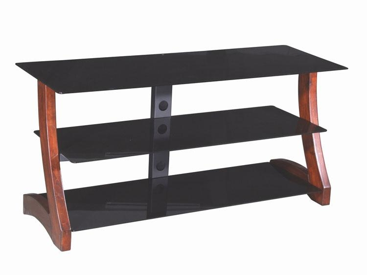 "50"" Wood & Glass Tv Stand With Regard To Best And Newest Wood Tv Stand With Glass (Image 1 of 20)"