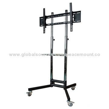 """52 90"""" Led Tv Stand, Vertically Adjustable, With Dvd Bracket Inside Current Upright Tv Stands (View 12 of 20)"""