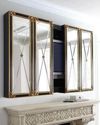 52 Best Decor – Hiding Tvs With Style Images On Pinterest Regarding Most Up To Date Wall Mounted Tv Cabinets For Flat Screens With Doors (Image 5 of 20)