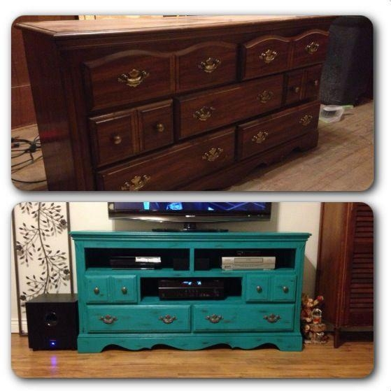 52 Best Repurpose Images On Pinterest | Refurbished Furniture Within Most Recent Painted Tv Stands (Image 3 of 20)
