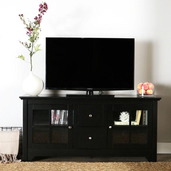 Featured Photo of Solid Wood Black Tv Stands