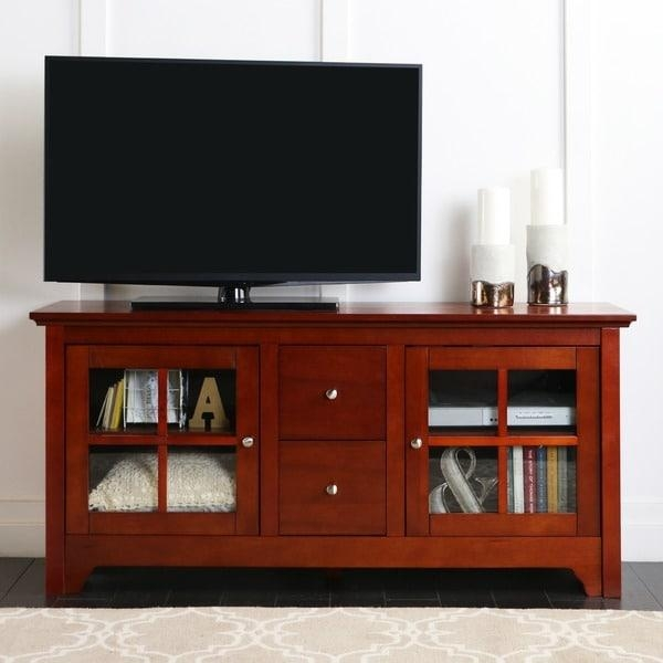 52 Inch Cherry Wood Tv Stand With Drawers – Free Shipping Today Intended For Most Popular Cherry Wood Tv Stands (View 5 of 20)