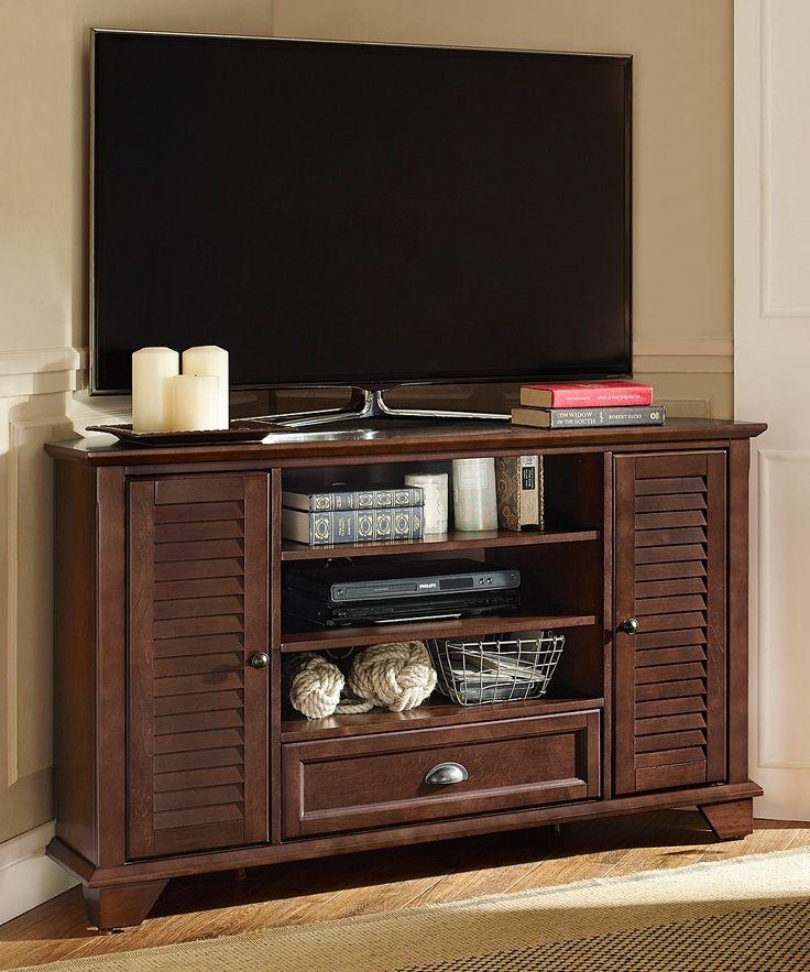 54 Best Tv Stand Corner Images On Pinterest | Tv Stand Corner Throughout Current Mahogany Corner Tv Stands (Image 2 of 20)