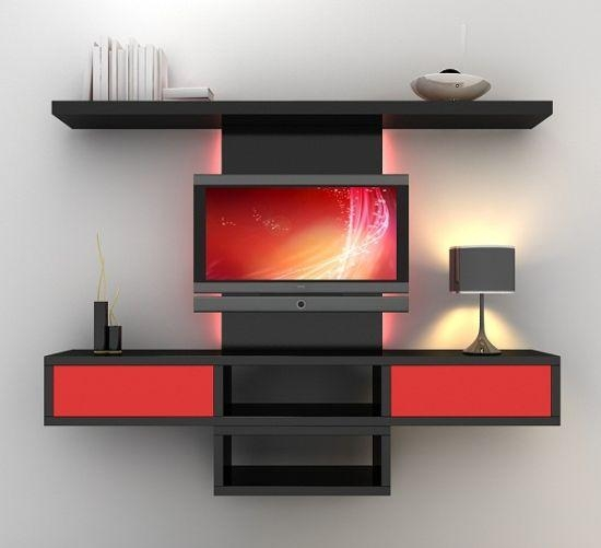 55 Cool Entertainment Wall Units For Bedroom throughout 2017 On The Wall Tv Units