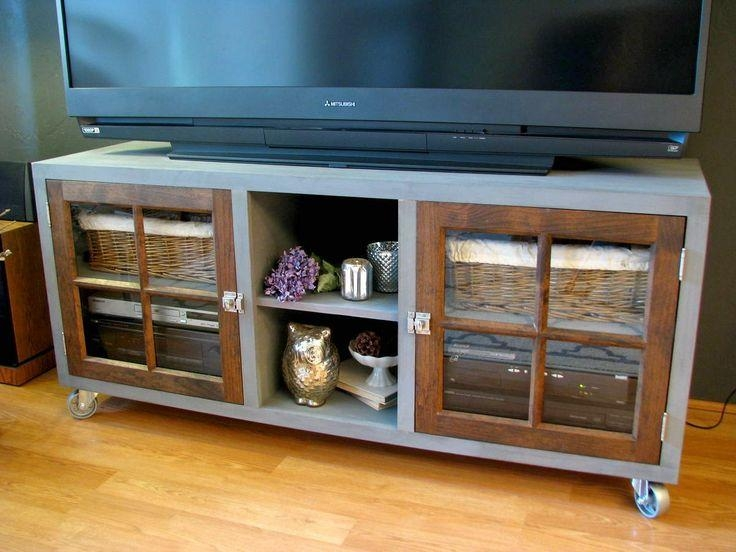 58 Best Furniture Painted Tv Stands And Media Cabinets Images On Inside Current Blue Tv Stands (Image 1 of 20)