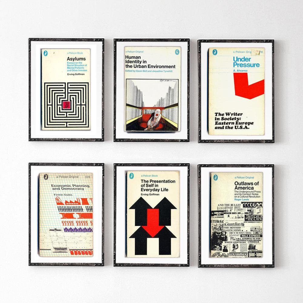 6 Piece Large Wall Art Midcentury Book Covers Penguin Books Retro Intended For Penguin Books Wall Art (View 3 of 20)