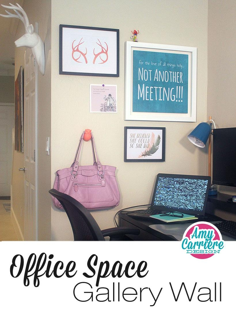 6 Steps To Creating A Quirky & Beautiful Gallery Wall | Design pertaining to Wall Art for Office Space