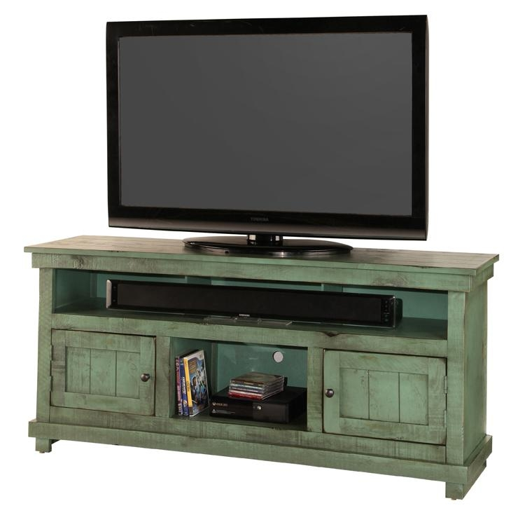 """60"""" Console – Green With Regard To Most Popular Green Tv Stands (Photo 6 of 20)"""
