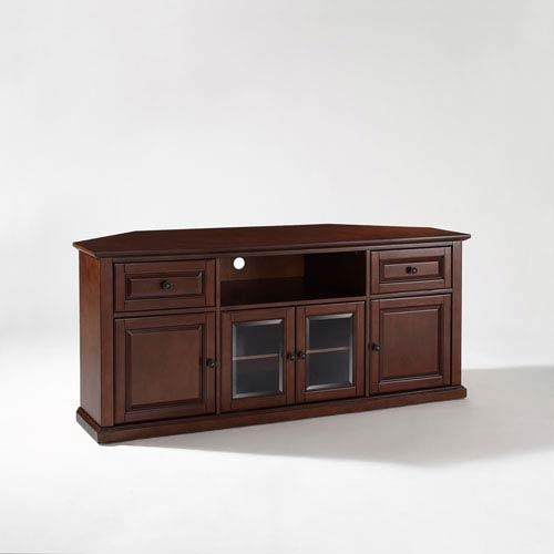 60 Inch Corner Tv Stand In Vintage Mahogany Crosley Furniture Inside Latest Corner Tv Stands For 60 Inch Tv (Image 3 of 20)