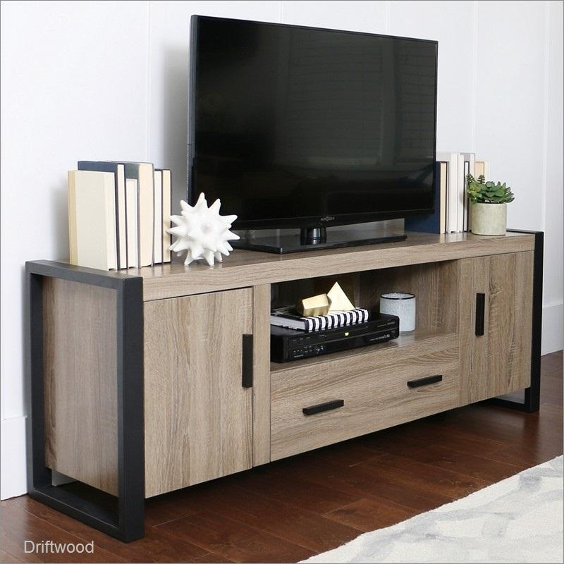 60 Inch Wood Tv Stand Consolewalker Edison Furniture Company within 2018 Comet Tv Stands