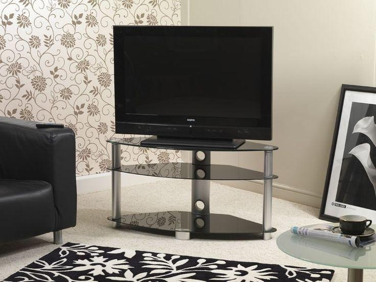 61 Best Black Glass Tv Stands Images On Pinterest | Cable In Current Iconic Tv Stands (View 5 of 20)