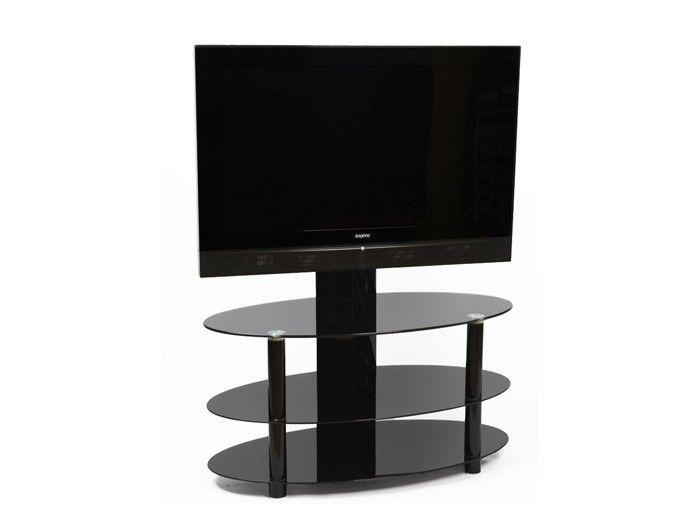 61 Best Black Glass Tv Stands Images On Pinterest | Cable pertaining to Best and Newest Cheap Cantilever Tv Stands