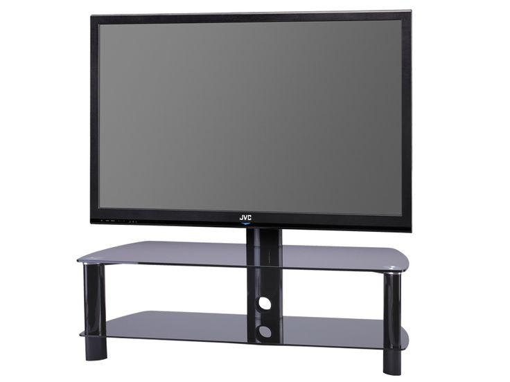 61 Best Black Glass Tv Stands Images On Pinterest | Cable regarding Most Up-to-Date Swivel Black Glass Tv Stands
