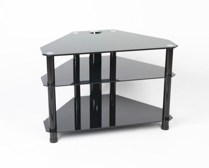 61 Best Black Glass Tv Stands Images On Pinterest | Cable Throughout Current Tv Stands For Tube Tvs (Photo 3509 of 7746)