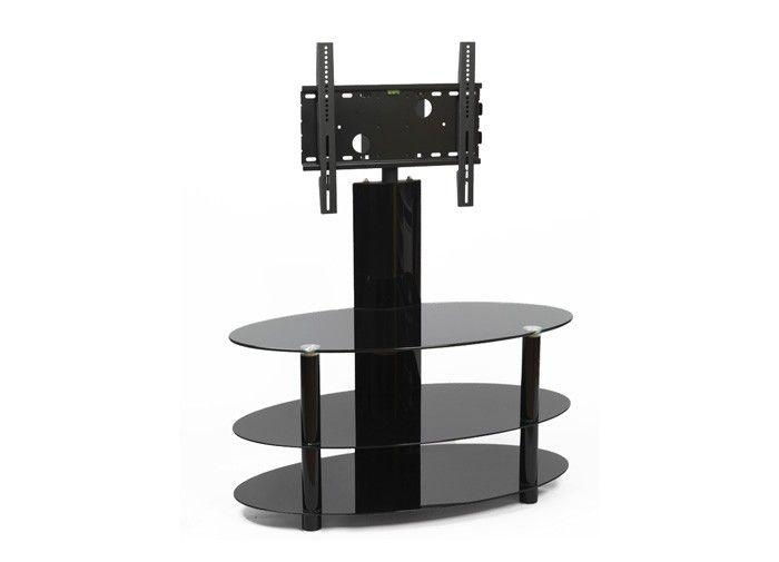 61 Best Black Glass Tv Stands Images On Pinterest | Cable throughout Recent Cheap Cantilever Tv Stands