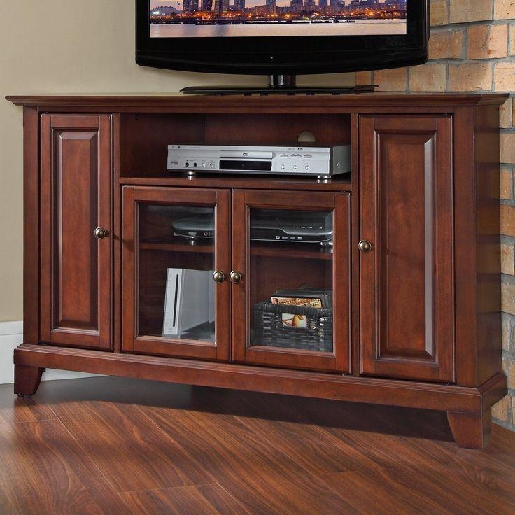 61 Best Furniture Images On Pinterest | Corner Tv Stands, Corner With Best And Newest Mahogany Corner Tv Stands (Image 3 of 20)