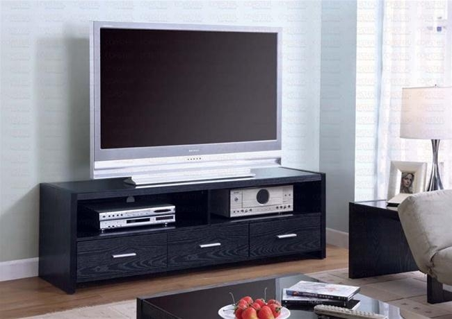 61 Inch Tv Stand In Black Finishcoaster – 700645 Inside Newest 61 Inch Tv Stands (Image 3 of 20)