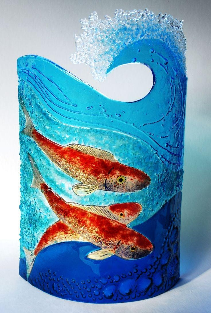 650 Best Fused Glass Images On Pinterest | Fused Glass, Stained in Fused Glass Fish Wall Art