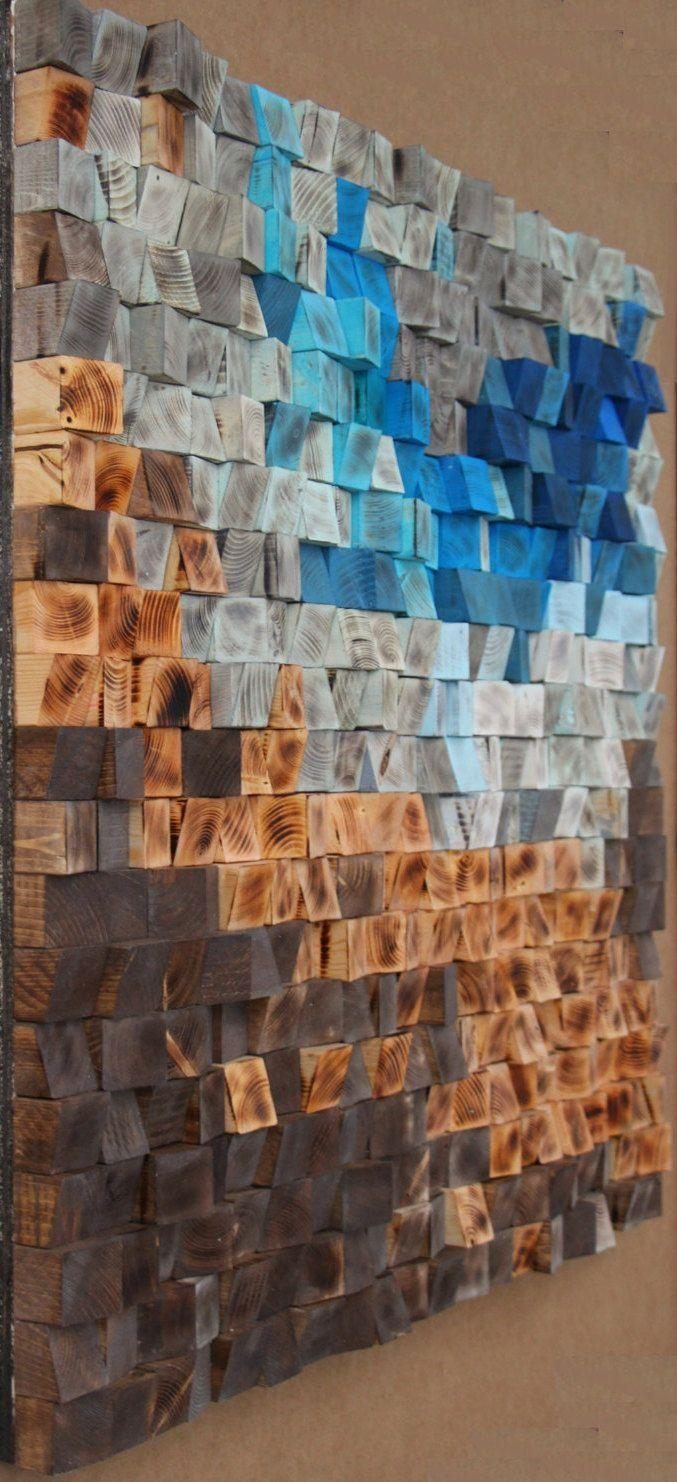 68 Best Wood Wall Art, Reclaimed Wall Sculpture Images On Intended For Italian Inlaid Wood Wall Art (Image 3 of 20)