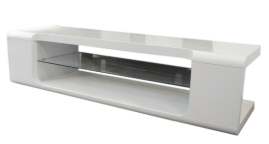 7 Glass Tv Stands For A Contemporary Living Room – Cute Furniture Uk Within Current White Glass Tv Stands (View 8 of 20)