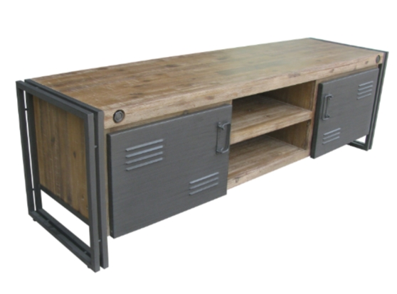 7 Tv Stands For A Modern Industrial Living Room - Cute Furniture throughout Most Popular Industrial Tv Cabinets