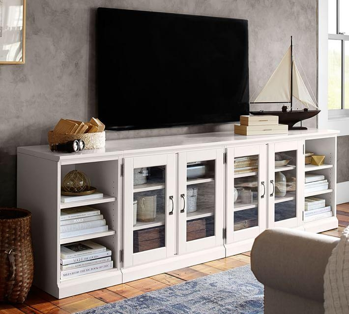 7 White Tv Stands For Your Living Room – Cute Furniture For Best And Newest Long Low Tv Stands (Image 2 of 20)