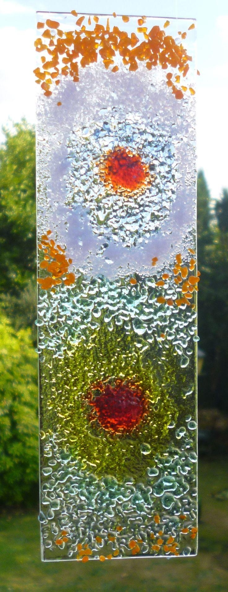 71 Best Suncatchers Images On Pinterest | Art Walls, Fused Glass for Fused Glass Flower Wall Art