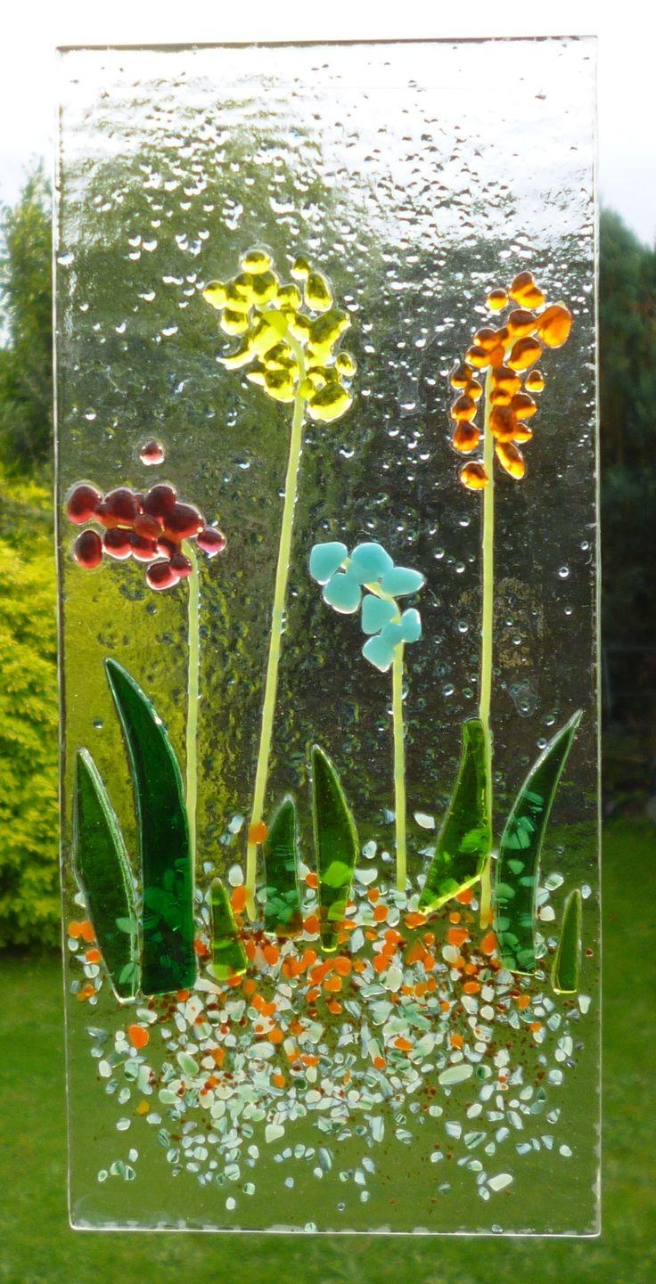 71 Best Suncatchers Images On Pinterest | Art Walls, Fused Glass intended for Fused Glass Flower Wall Art