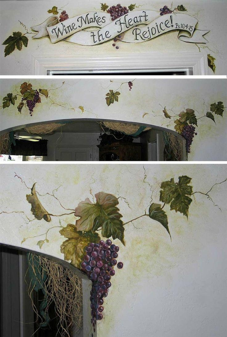 73 Best Creative Ideas Images On Pinterest | Creative Ideas, Wall throughout Grape Vine Wall Art