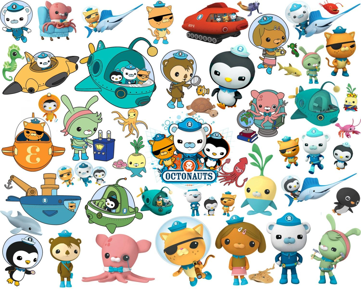 74 Octonauts Clipart And Silhouette Octonauts Clipart for Octonauts Wall Art