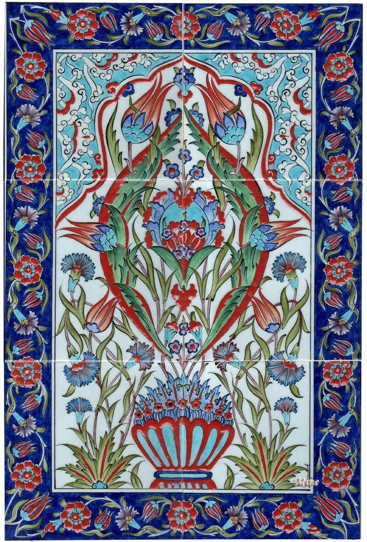 751 Best Tiles And Patterns Images On Pinterest | Turkish Tiles within Turkish Wall Art