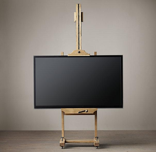 8 Great Ways To Incorporate A Flat Screen Television Into A Room within Most Up-to-Date Easel Tv Stands for Flat Screens