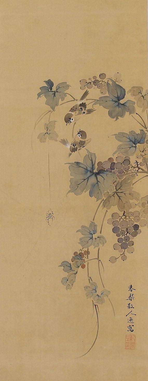 847 Best Asian Art Images On Pinterest | Asian Art, Woodblock with Grape Colour Wall Art