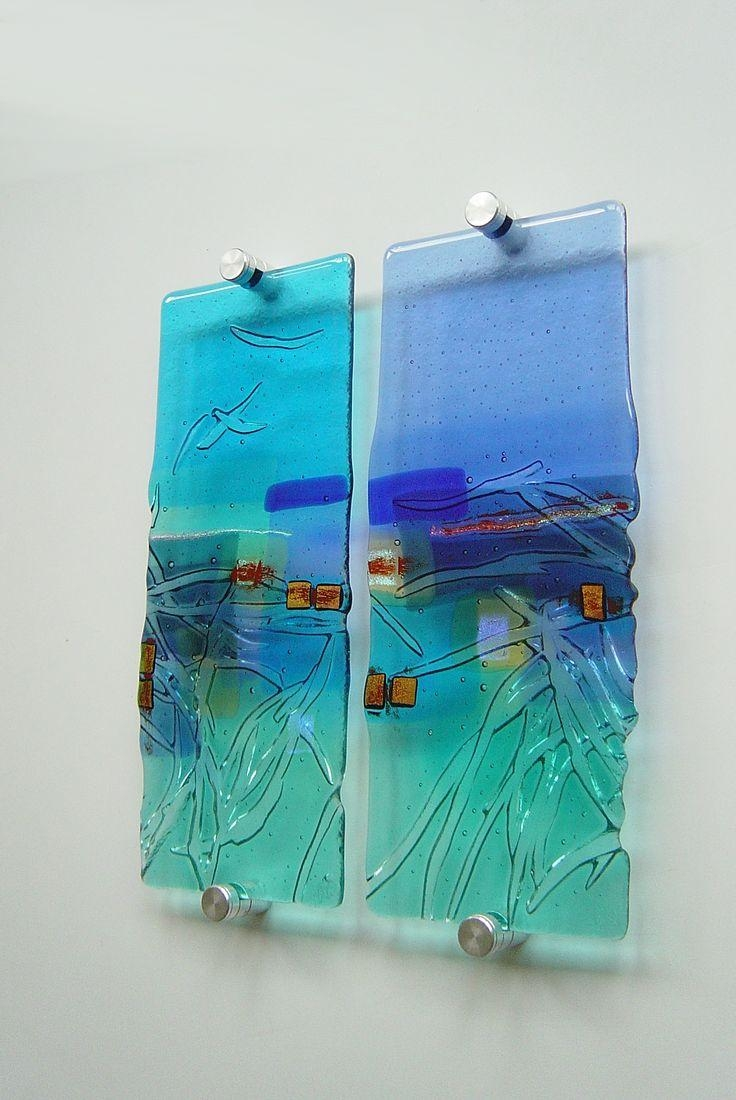 858 Best Fused Glass Panels Images On Pinterest   Stained Glass with regard to Fused Glass Fish Wall Art