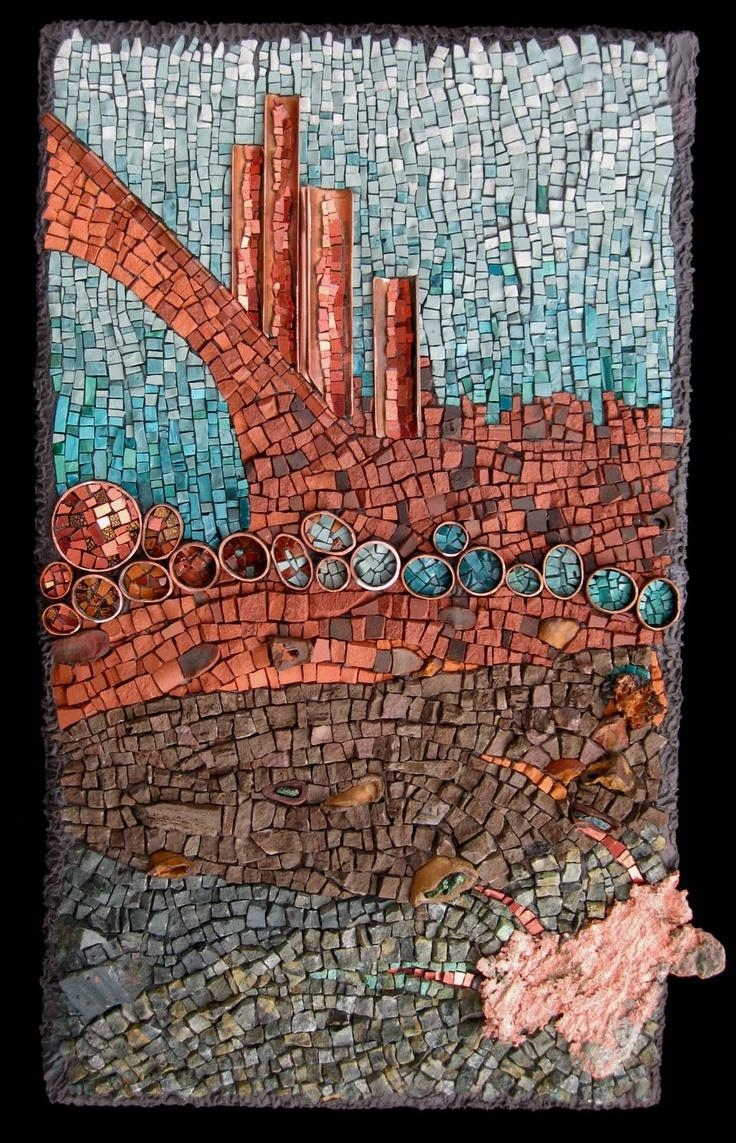 876 Best Mosaic Abstract Images On Pinterest | Stained Glass Regarding Italian Mosaic Wall Art (Photo 6 of 20)