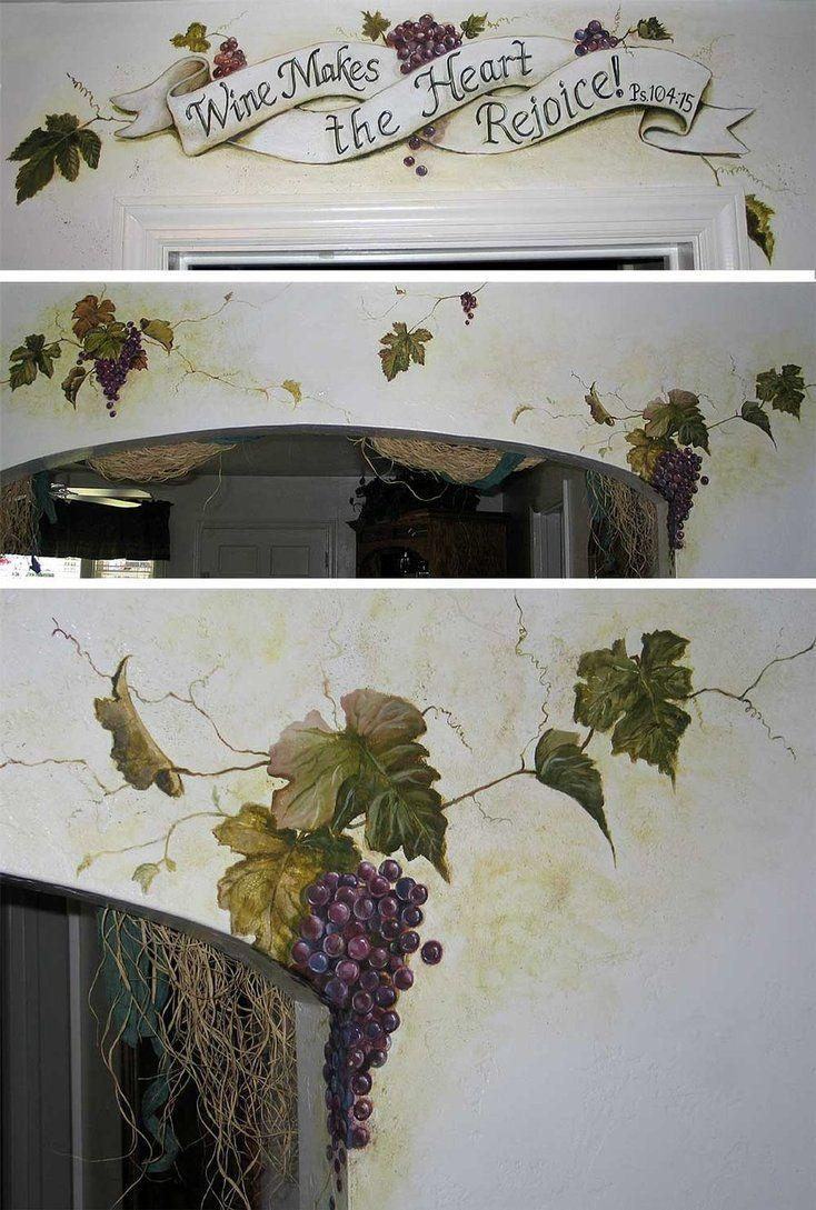 9 Best Grapevine Trompe L'oeil Ideas Images On Pinterest | Wall pertaining to Grape Vineyard Wall Art