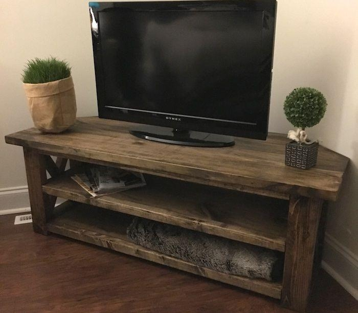 9 Free Tv Stand Plans You Can Diy Right Now Within 2017 Triangular Tv Stand (View 11 of 20)