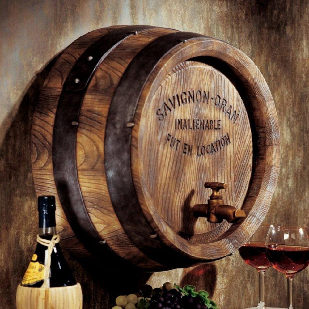 9 Unique Wine Decorations – Wine Gifted Throughout Wine Barrel Wall Art (Image 1 of 20)