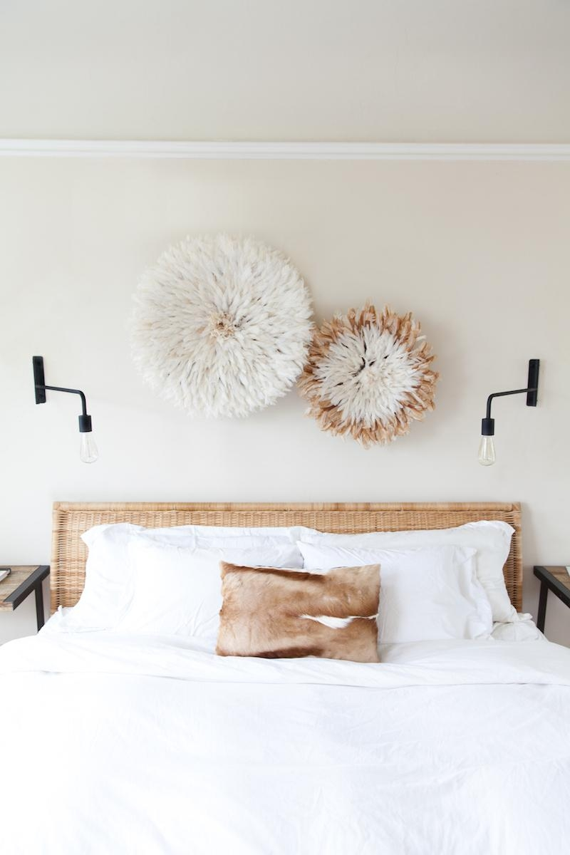 9 Ways To Decorate Above A Bed - The Inspired Room for Wall Art Over Bed