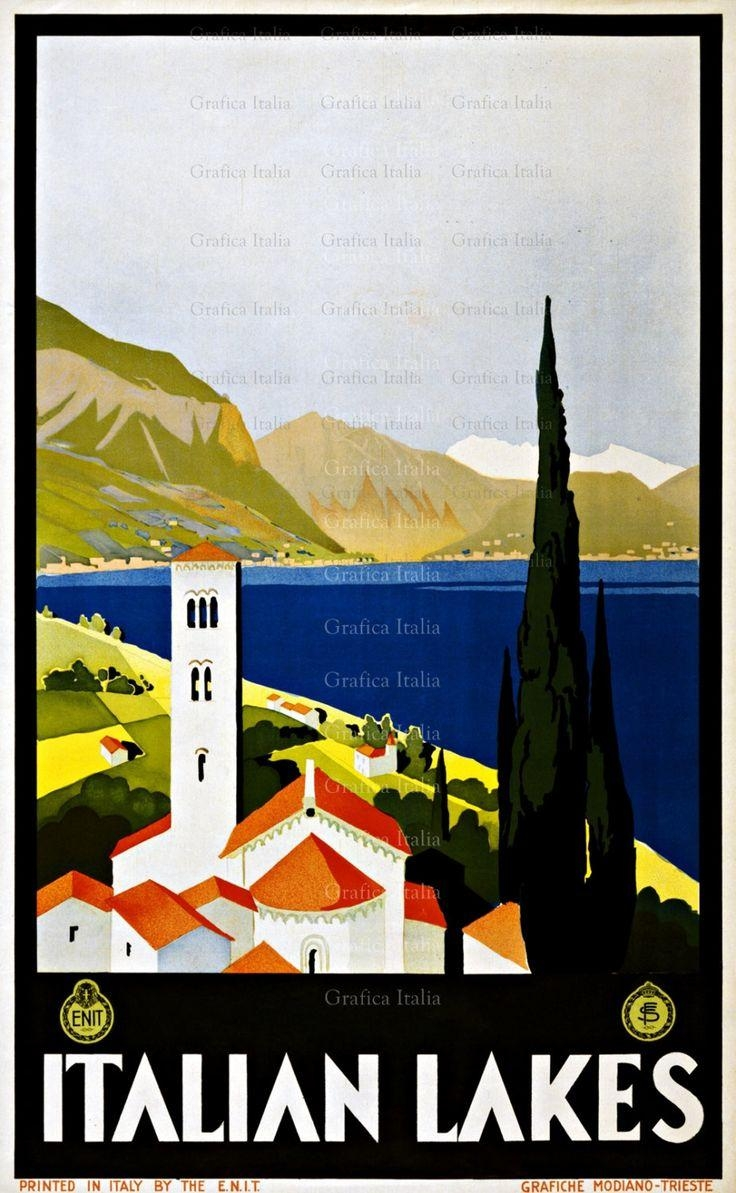 92 Best Vintage Poster Images On Pinterest | Vintage Travel pertaining to Italian Travel Wall Art