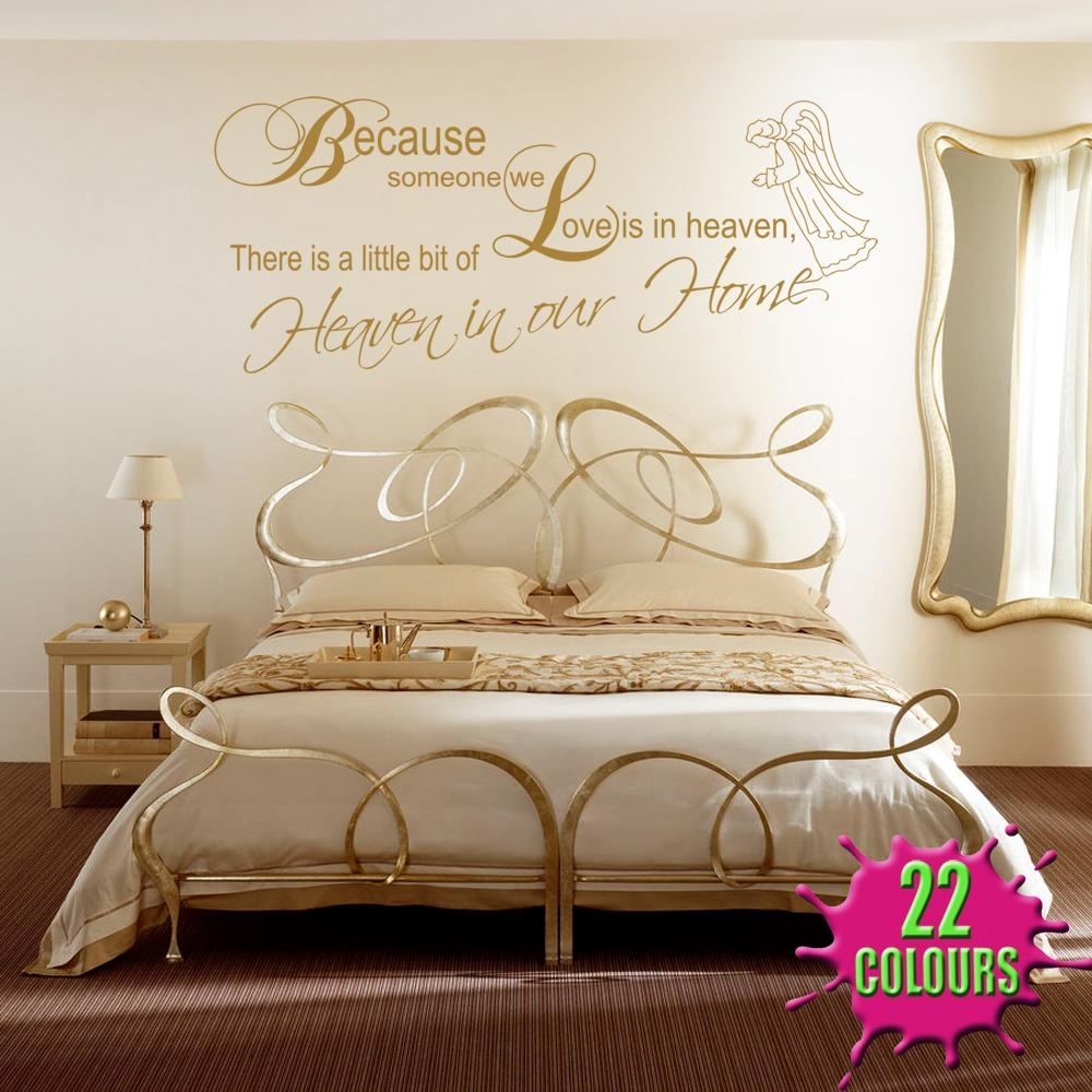 A Little Bit Of Heaven Wall Stickers & Decals Pertaining To Gold Wall Art Stickers (View 3 of 20)