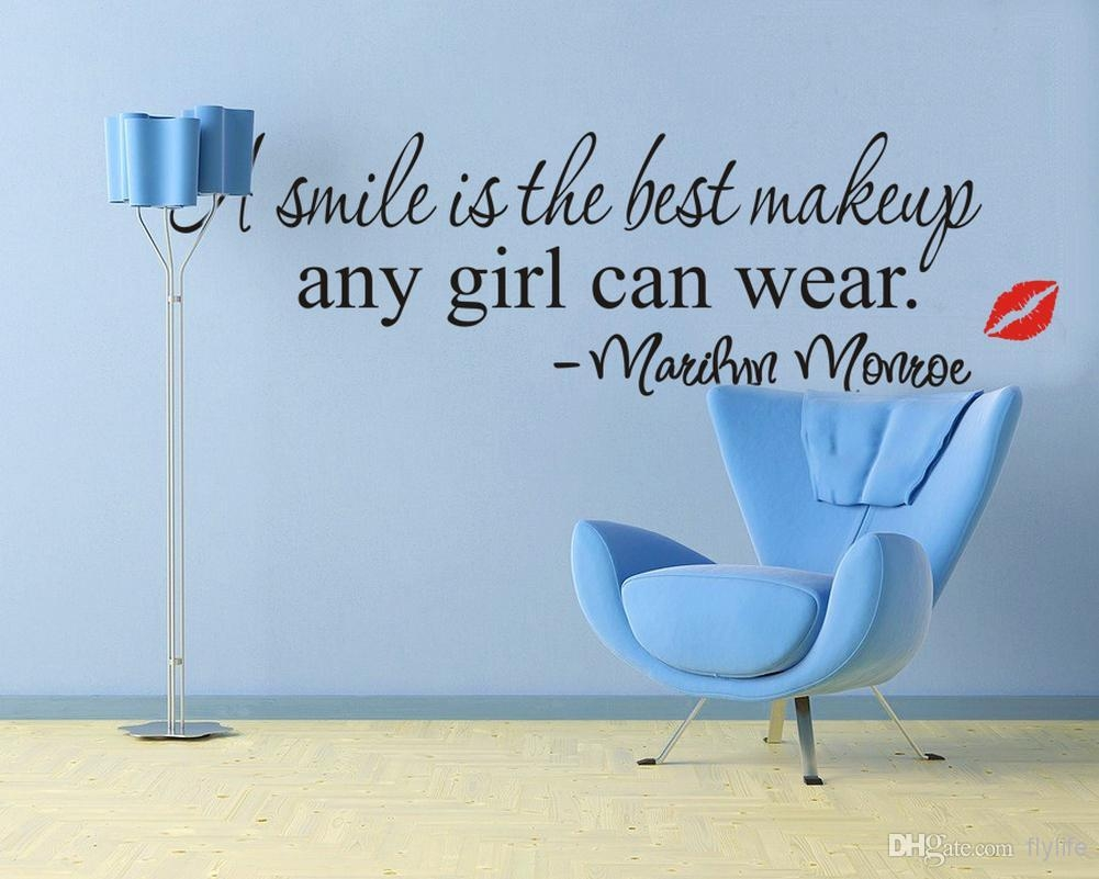 A Simile Is The Best Makeup Any Girl Can Wear Marilyn Monroe For Italian Phrases Wall Art (View 15 of 20)