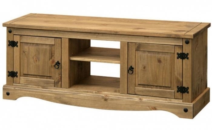 Abdabs Furniture – Corona Pine 2 Door Flat Screen Tv Cabinet In Current Pine Tv Cabinets (View 3 of 20)