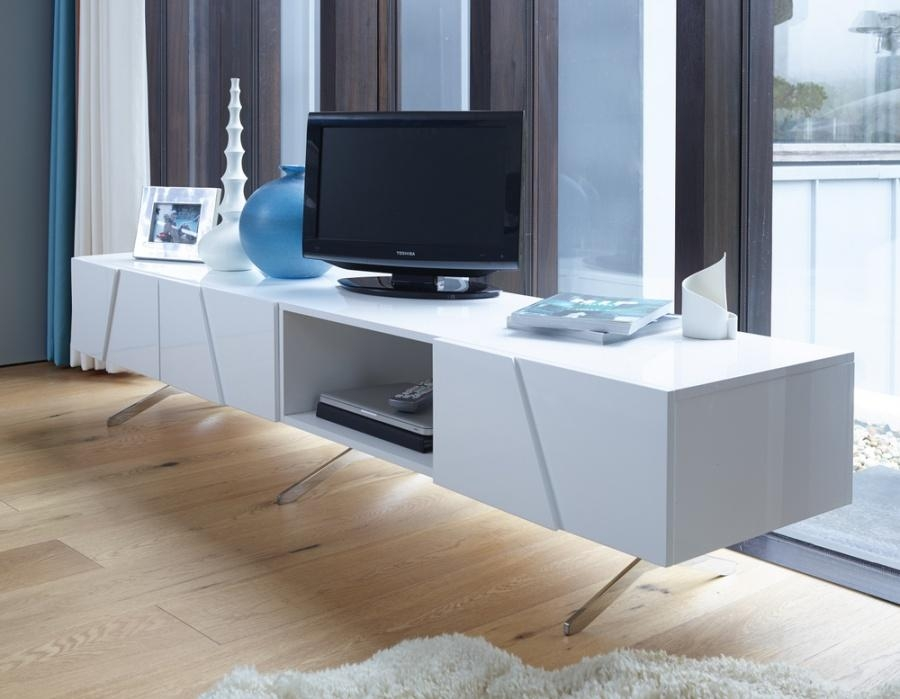 Abdabs Furniture – Glacier Large White Open Tv Stand Pertaining To Latest Large White Tv Stands (Image 3 of 20)