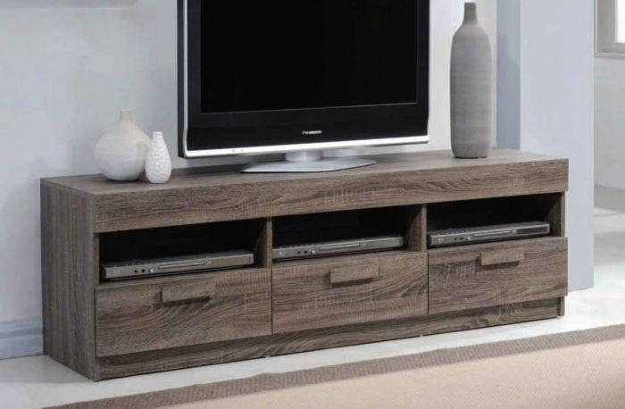 Acme 91167 Alvin Rustic Oak Tv Stand Pertaining To Most Up To Date Rustic Oak Tv Stands (Image 1 of 20)