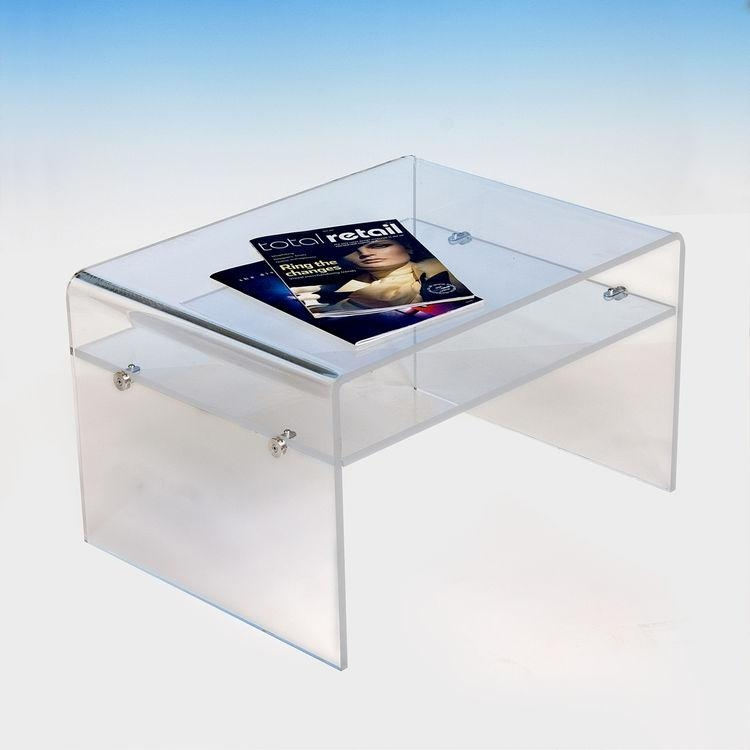 Acrylic Tv Stand Table With Shelf, Acrylic Tv Stand Table With With Regard To Most Up To Date Clear Acrylic Tv Stands (Image 1 of 20)